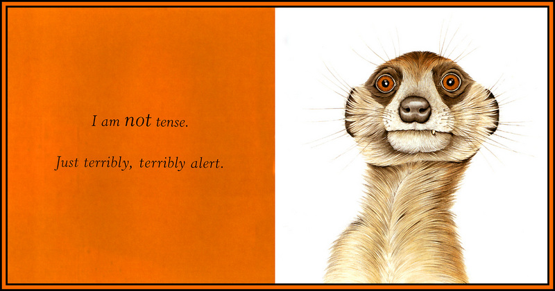 [D50 Scan] Jane Seabrook 'Furry Logic' - Alert (Suricate); DISPLAY FULL IMAGE.