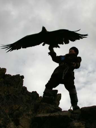Golden Eagle, Kazakhstan [REUTERS 2006-02-11]; Image ONLY