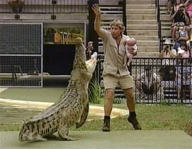 'Crocodile Hunter' Steve Irwin killed [AP 2006-09-04]; Image ONLY