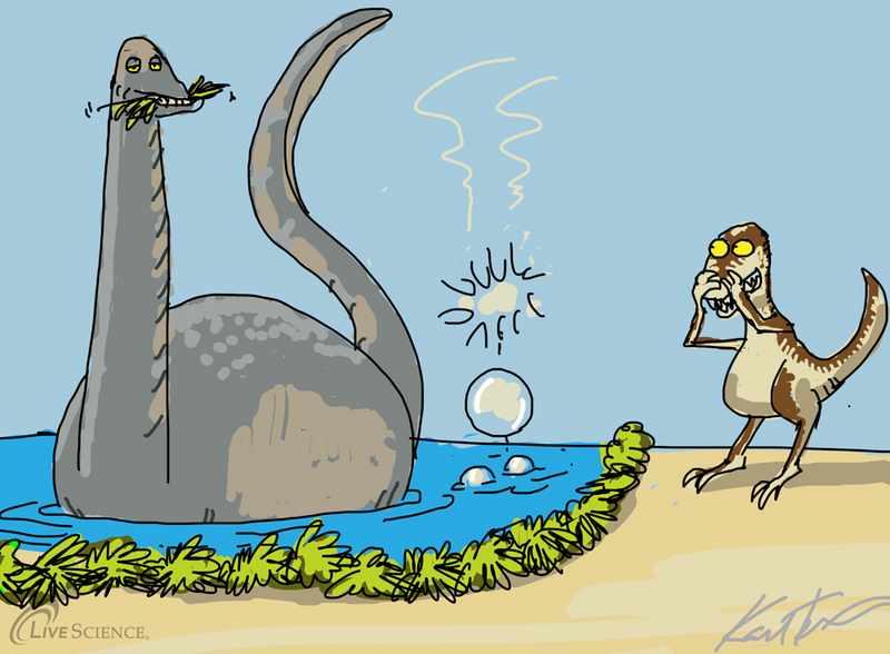 Dinosaur Farts May Have Warmed Prehistoric Earth [LiveScience 2012-05-07]; DISPLAY FULL IMAGE.