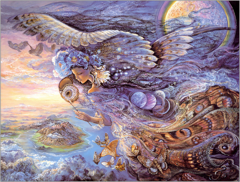 Josephine Wall, Queen of the Night; DISPLAY FULL IMAGE.