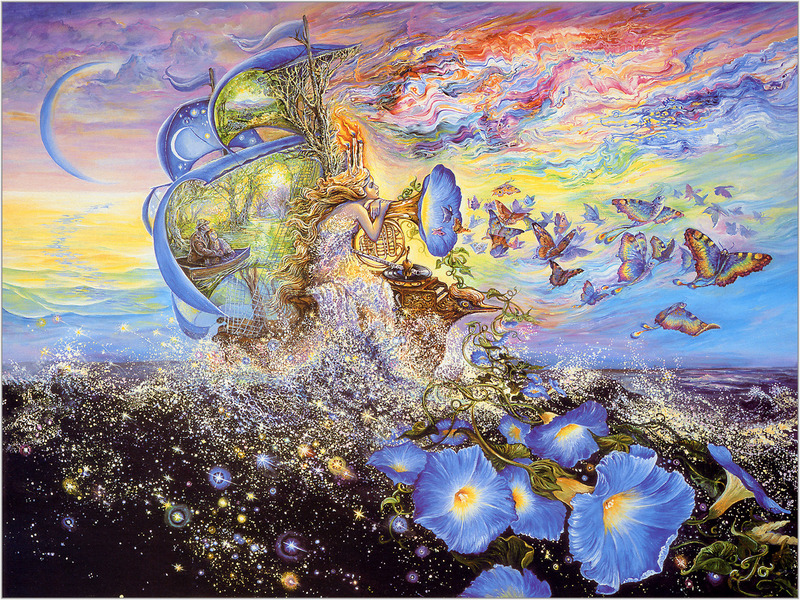 Josephine Wall, Andromedas Quest; DISPLAY FULL IMAGE.