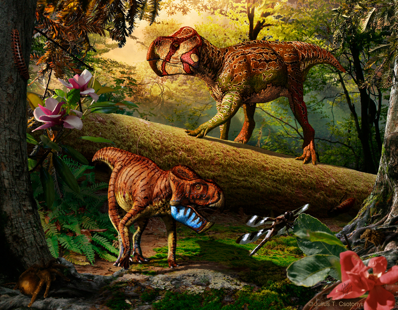 Paleo-Art: Dinosaurs Come to Life in Stunning Illustrations [LiveScience 2012-08-31]; DISPLAY FULL IMAGE.
