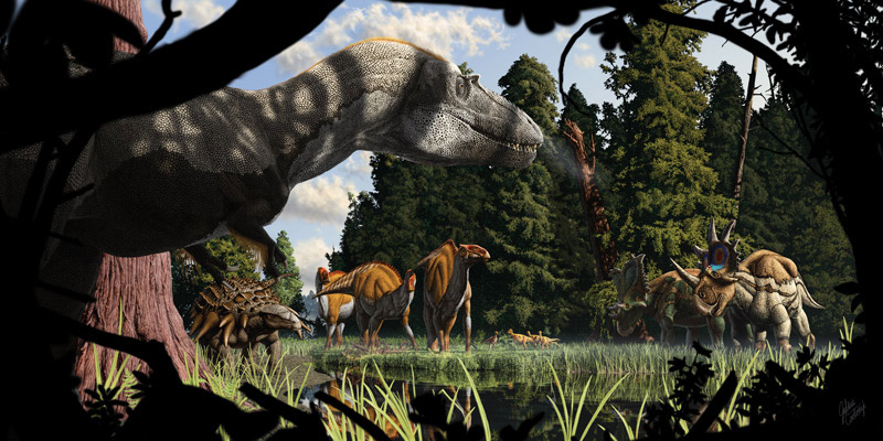 Paleo-Art: Dinosaurs Come to Life in Stunning Illustrations [LiveScience 2012-08-31]; Image ONLY