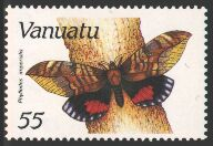 Pink Underwing Moth (Phyllodes imperialis) stamp; Image ONLY
