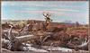 [zFox SWD Scan] The Western Paintings of John Clymer 027 Ridge Run -Whitetail Deer
