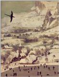 Fine Art: Pieter Bruegel: The Hunters in the Snow: Detail of Soaring Bird - huntersb.jpg [00/01]