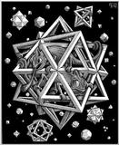 Fine Art: M.C. Escher: Stars, Wood engraving, 1948 - stars.jpg [01/01]