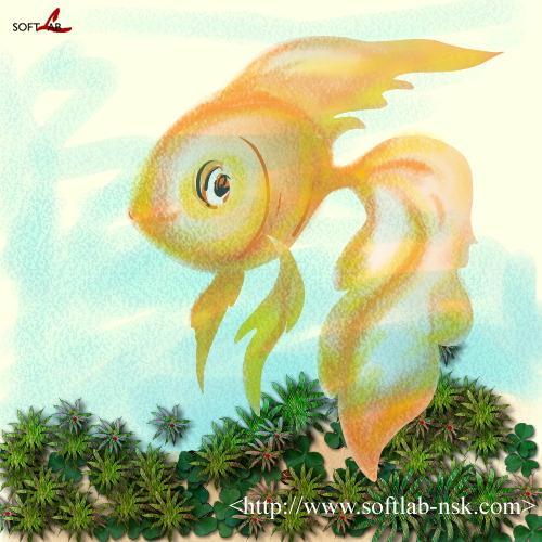 Animal Clip Arts: Goldfish Clipart